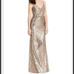 After Six Dresses - After Six Elle Sequin Cinnamon Dress